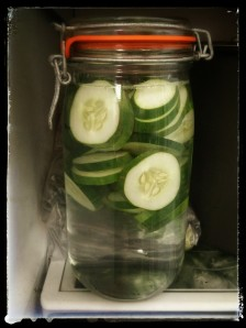 Steeping Cucumber Water